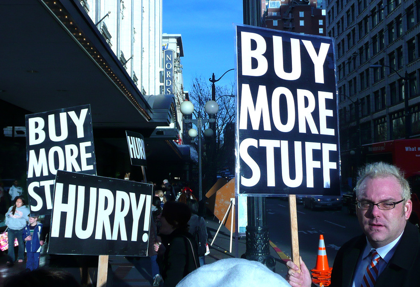Buy more stuff - Image credit:The Searcher, Flickr creative commons