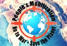 People's mobilisation, No to war, Save the planet
