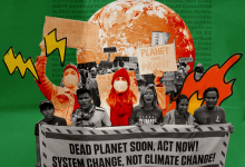 Global climate strike. Dead planet soon, act now! System change, not climate change!
