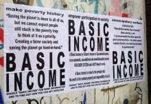 Basic income posters - image credit: rUssEll shAw hIggs, Flickr creative commons