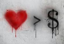 Banksy - Love is greater than money