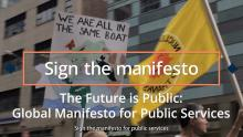 The Future is Public: Global Manifesto for Public Services